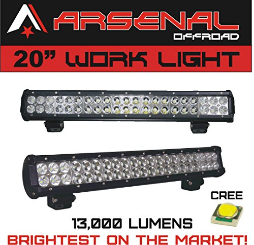 1-20-Dual-Row-High-Power-126w-Cree-Xb-d-SMD-Work-Light-Bar-by-Arsenal-Offroad-TM-13000-Lumens-FloodSpot-COMBO-Beam-Off-Road-Polaris-RZR-UTV-Raptor-Jeep-Bumper-Rock-Rock-Light-FREE-Wire-Harness-Brighte-0