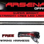 1-40-inch-240W-CREE-LED-Light-Bar-by-Arsenal-Offroad-TM-spot-flood-combo-beam-Great-for-Offroad-Trucks-4×4-radius-fog-JEEP-Trucks-UTV-SUV-4×4-Polaris-Razor-1000-Tractor-Marine-Raptor-0