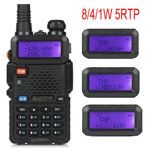 2-Pack-Baofeng-UV-5RTP-Tri-Power-841W-Two-Way-Radio-Transceiver-UV-5R-Upgraded-Version-with-Tri-Power-Dual-Band-136-174400-520MHz-True-8W-High-Power-Two-Way-Radio-1-Programming-Cable-0-0