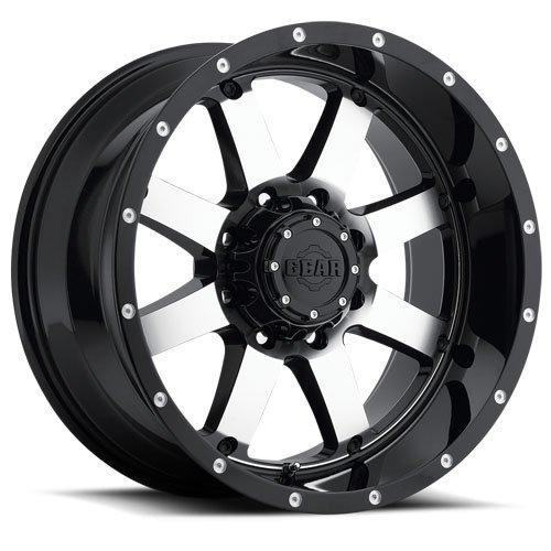 20X12-6-135-6-55-Gear-Alloy-726M-Big-Block-Gloss-BlackMachined-Wheels-0