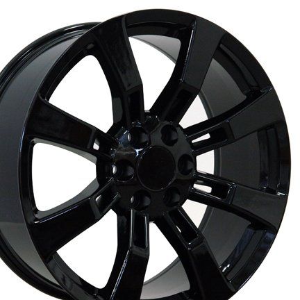 22-inch-Fits-Cadillac-Escalade-Aftermarket-Wheels-Black-22×9-Set-of-4-0