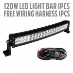 288w-50-Inch-10v-30v-Curved-LED-Light-Bar-LED-Work-Light-Flood-Spot-Combo-Beam-96-Leds-for-4wd-Off-road-Offroad-Truck-Pick-up-4×4-Car-4×4-ATV-4wd-SUV-UTE-with-Wiring-Harness-and-Mounts-0