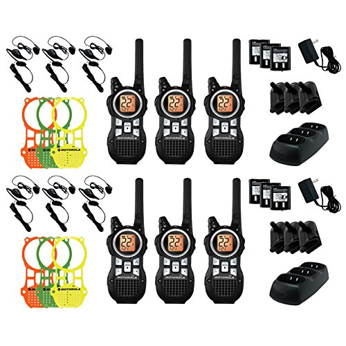 6-Pack-Motorola-MR350RTPR-OUTDOOR-CAMPING-HUNTING-FISHING-35-Mile-Range-22-Channel-FRSGMRS-Two-Way-Radio-6-PACK-Including-All-Accessories-0