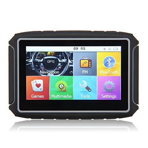 8gb 4 3 u2033 tft touch screen motorcycle car gps navigation waterproof bluetooth nav maps system win