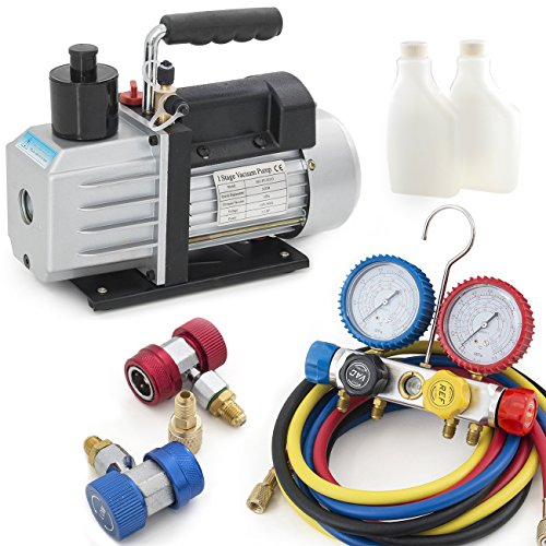 ARKSEN-4-Way-Valve-Manifold-Gauge-4Hoses-Quick-Adapter-HVAC-12HP-5CFM-Vacuum-Pump-0