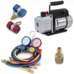 ARKSEN-4CFM-Rotary-Vacuum-Pump-13HP-w-AC-Manifold-Gauge-Set-R410-R22-R134-R407C-0