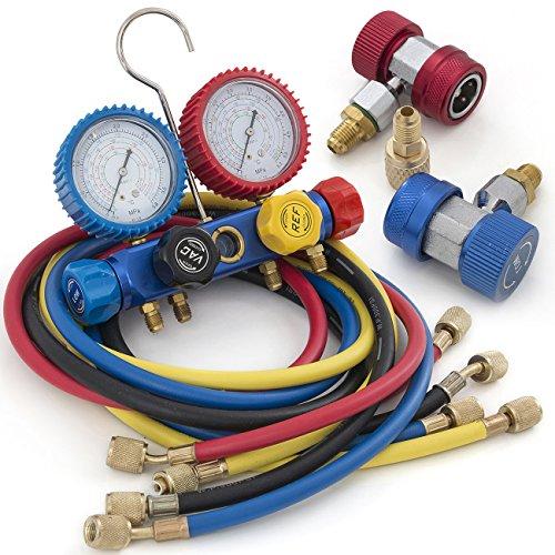 ARKSEN-5CFM-12HP-Rotary-Vacuum-Pump-13HP-w-AC-Manifold-Gauge-Set-R410-R22-R134-R407C-0-0
