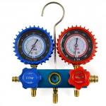 ARKSEN-R134A-R12-AC-AC-Manifold-Gauge-Set-with-3-Hoses-180PSI-Air-Vacuum-Pump-0-0
