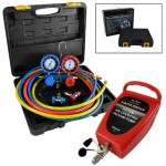 ARKSEN-R134A-R12-AC-AC-Manifold-Gauge-Set-with-3-Hoses-180PSI-Air-Vacuum-Pump-0