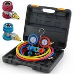 ARKSEN-Vacuum-Pump-4CFM-13HP-AC-Refrigeration-Manifold-Gauge-R134A-0-0