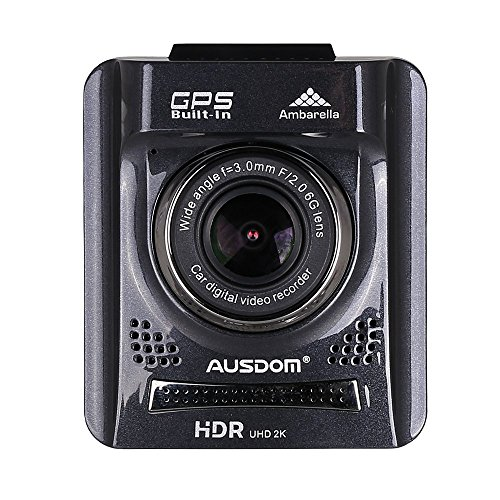 AUSDOM-HD-Dash-Cam-A261-Car-DVR-with-GPS-2-Inch-View-Screen-Auto-Car-Dash-Camera-Vehicle-Camcorder-Type-Car-Black-Box-with-G-Sensor-for-Auto-Recording-0-0