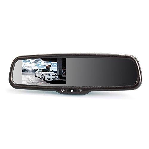 AUTO-VOX-Dual-Video-Inputs-43-Auto-Adjusting-Brightness-Car-Rear-View-Mirror-for-Toyota-Honda-Nissan-Mazda-Hyundai-Kia-Ford-Pickup-and-Most-Car-Model-0