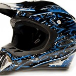 Adult-Offroad-Helmet-Goggles-Gloves-Gear-Combo-DOT-Motocross-ATV-Dirt-Bike-MX-Black-Blue-Splatter-0-0