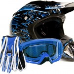Adult-Offroad-Helmet-Goggles-Gloves-Gear-Combo-DOT-Motocross-ATV-Dirt-Bike-MX-Black-Blue-Splatter-0