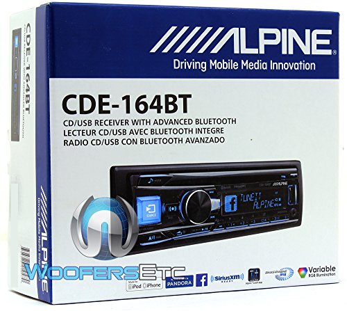 Alpine-CDE-164BT-Alpine-In-Dash-1-DIN-CDMP3-Receiver-with-Bluetooth-and-iPhoneiPod-Support-0-0
