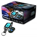 AutoPage-Alarm-with-Remote-Car-Starter-4-Channel-5-Button-Chrome-LCD-0-0