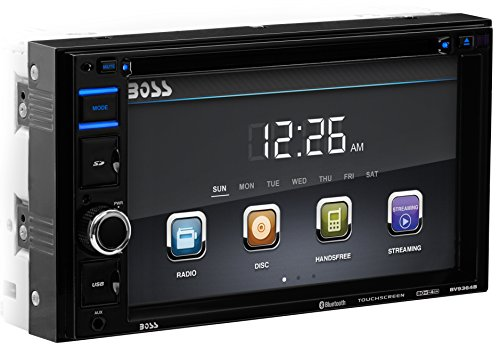 BOSS-AUDIO-BV9356-Double-DIN-62-inch-Touchscreen-DVD-Player-Receiver-Wireless-Remote-0-0