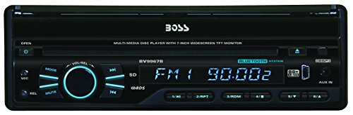 BOSS-AUDIO-BVB9967RC-Single-DIN-7-inch-Motorized-Touchscreen-DVD-Player-Receiver-Bluetooth-Detachable-Front-Panel-Wireless-Remote-and-Rear-camera-included-0-1