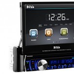BOSS-Audio-In-Dash-Single-Din-7-inch-Motorized-Detachable-Touchscreen-DVDCDUSBSDMP4MP3-Player-Receiver-Bluetooth-Streaming-Bluetooth-Hands-free-with-Remote-0-1