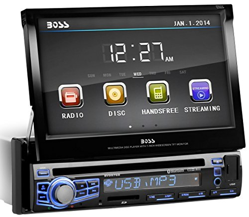BOSS-Audio-In-Dash-Single-Din-7-inch-Motorized-Touchscreen-DVDCDUSBSDMP4MP3-Player-Receiver-Bluetooth-Streaming-Bluetooth-Hands-free-with-Remote-0-0