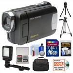 Bell-Howell-DNV6HD-Rogue-Infrared-Night-Vision-1080p-HD-Video-Camera-Camcorder-Black-with-16GB-Card-Case-Tripods-LED-Light-Kit-0