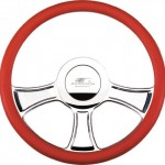 Billet-Specialties-30765-14-Chicayne-Half-Wrap-Billet-Steering-Wheel-0