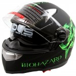 Bio-hazard-Matte-Black-Dual-Visor-Full-Face-Motorcycle-Helmet-DOT-0-1
