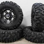 Bundle-9-Items-ITP-SS212-14-Wheels-Black-30-Roctane-Tires-4×156-Bolt-Pattern-38×24-Lug-Kit-0