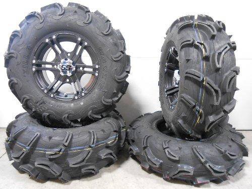 Bundle-9-Items-ITP-SS212-14-Wheels-Black-30-Zilla-Tires-4×137-Bolt-Pattern-12mmx125-Lug-Kit-0
