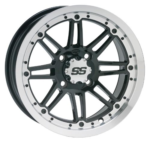 Bundle-9-Items-ITP-SS216-14-Wheels-Machined-27-Swamp-Lite-Tires-4×156-Bolt-Pattern-38×24-Lug-Kit-0-0