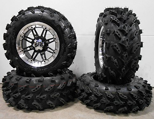 Bundle-9-Items-ITP-SS216-14-Wheels-Machined-27-Swamp-Lite-Tires-4×156-Bolt-Pattern-38×24-Lug-Kit-0