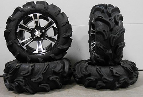 Bundle-9-Items-ITP-SS312-14-Wheels-Black-27-Mega-Mayhem-Tires-4×110-Bolt-Pattern-10mmx125-Lug-Kit-0