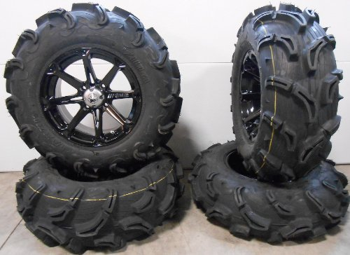 Bundle-9-Items-MSA-Black-Diesel-14-ATV-Wheels-28-Zilla-Tires-4×156-Bolt-Pattern-38×24-Lug-Kit-0
