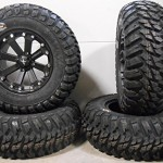 Bundle-9-Items-MSA-Black-Kore-14-ATV-Wheels-28-Kanati-Mongrel-Tires-4×156-Bolt-Pattern-12mmx15-Lug-Kit-0