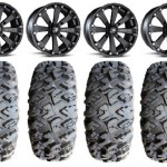 Bundle-9-Items-MSA-Black-Kore-14-ATV-Wheels-30-EFX-MotoClaw-Tires-4×156-Bolt-Pattern-12mmx15-Lug-Kit-0