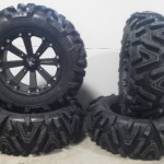 Bundle-9-Items-MSA-Black-Kore-16-ATV-Wheels-30-EFX-Moto-MTC-Tires-4×156-Bolt-Pattern-38×24-Lug-Kit-0