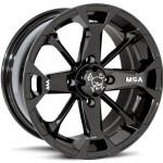 Bundle-9-Items-MSA-Elixir-12-Wheels-Black-25-Mud-Lite-XL-Tires-4×110-Bolt-Pattern-10mmx125-Lug-Kit-0-0