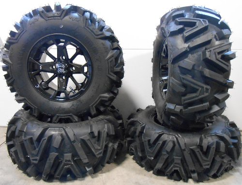 Bundle-9-Items-MSA-Elixir-12-Wheels-Black-26-EFX-Moto-MTC-Tires-4×110-Bolt-Pattern-10mmx125-Lug-Kit-0