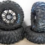 Bundle-9-Items-STI-HD3-14-Wheels-Black-26-BigHorn-Tires-4×137-Bolt-Pattern-10mmx125-Lug-Kit-0
