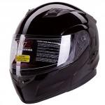 Dual-Visor-Modular-Flip-up-Gloss-Black-Motorcycle-Snowmobile-Helmet-DOT-0-0