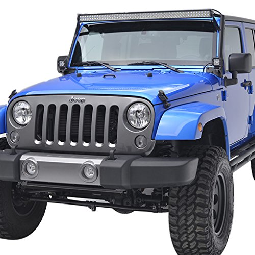 E-Autogrilles-51-0451-07-16-Jeep-Wrangler-JK-Windshield-Mounting-Brackets-for-50-LED-Lightsa-Pair-0-0