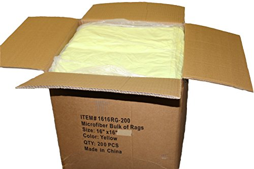 FREE-SHIPPING-200pcs-Irregular-Microfiber-Cleaning-Towel-16-x-16-Yellow-0-0