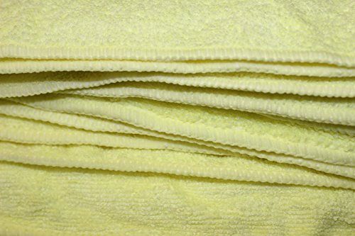FREE-SHIPPING-200pcs-Irregular-Microfiber-Cleaning-Towel-16-x-16-Yellow-0-1