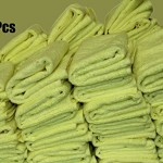 FREE-SHIPPING-200pcs-Irregular-Microfiber-Cleaning-Towel-16-x-16-Yellow-0