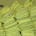 FREE-SHIPPING-200pcs-Irregular-Microfiber-Cleaning-Towel-16-x-16-Yellow-0