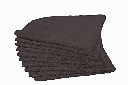 FREE-SHIPPING-ONE-BOX-24-DOZEN-288pc-Premium-Microfiber-Cleaning-Towel-16-x-16-Black-0