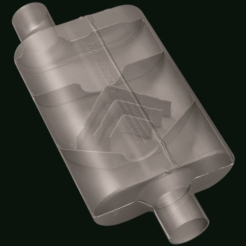 Flowmaster-942041-40-Delta-Flow-Muffler-200-Offset-IN-200-Center-OUT-Aggressive-Sound-0-1