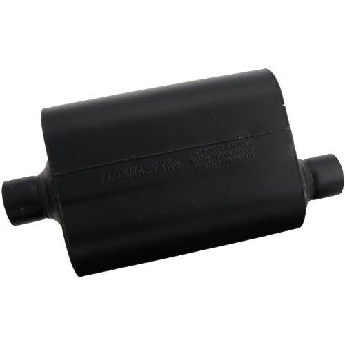 Flowmaster-952547-Super-40-Muffler-250-Center-IN-250-Offset-OUT-Aggressive-Sound-0-0