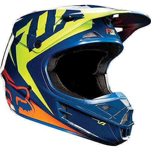 Fox-Racing-Race-Mens-V1-MotoX-Motorcycle-Helmet-NavyYellow-0-0