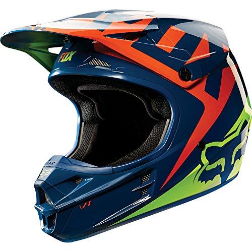 Fox-Racing-Race-Mens-V1-MotoX-Motorcycle-Helmet-NavyYellow-0